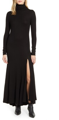 AG Jeans Chels Front Slit Long Sleeve Maxi Dress