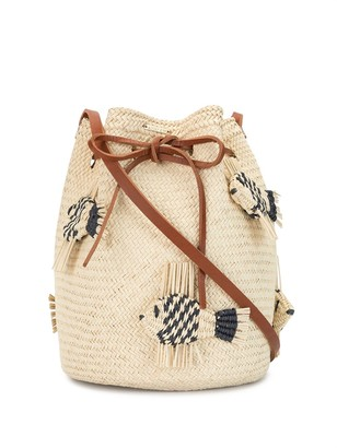 Mercedes Salazar Woven Fish Bucket Bag