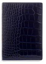 Smythson Mara Crocodile-Embossed Leather Passport Cover