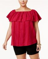 Style&Co. Style & Co Plus Size Textured Off-The-Shoulder Top, Created for Macy's