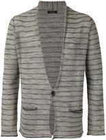 Roberto Collina striped buttoned cardigan - men - Cotton/Linen/Flax/Polyacrylic - 46