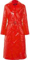 Sies Marjan Exclusive Bessie Crinkled-vinyl Trench Coat