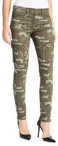 William Rast Mid-Rise Utility Camouflage Skinny Cargo Pants