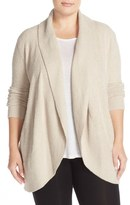 Barefoot Dreams Open Front Circle Cardigan (Plus Size)