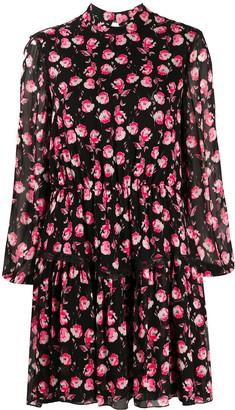 Blumarine Floral-Print Mini Dress