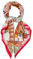 Hermes Kachinas Cashmere Silk Shawl