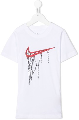 Nike Kids Swoosh and chains T-shirt