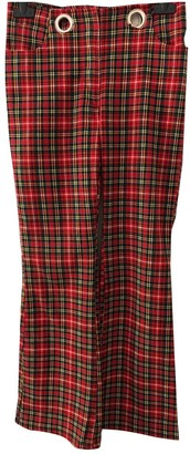 Miaou Red Cotton Trousers for Women