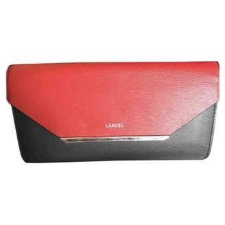 Lancel Enveloppe Red Leather Wallets