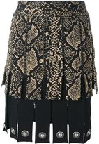 Fausto Puglisi snake print effect pleated skirt - women - Silk/Polyester/Acetate/Viscose - 40