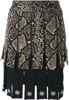 Fausto Puglisi snake print effect pleated skirt - women - Viscose/Acetate/Polyester/Silk - 40