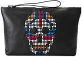 Alexander McQueen studded skull clutch - men - Leather/plastic/Calf Leather - One Size
