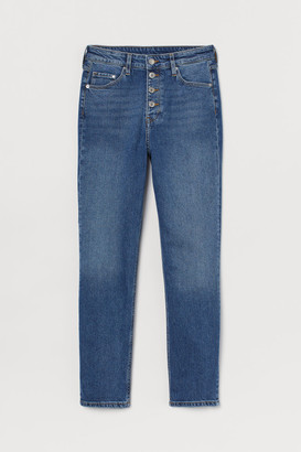 H&M Vintage Slim High Ankle Jeans - Blue