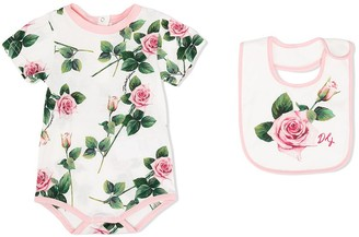 Dolce & Gabbana Kids Tropical Rose-print two-piece gift set