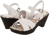 Nina Soho (Little Kid/Big Kid) (White Vintage Pebbled) - Footwear