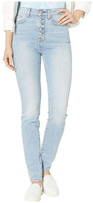 7 For All Mankind High-Waist Skinny w/ Exposed Button Fly in Vail (Vail) Women's Jeans