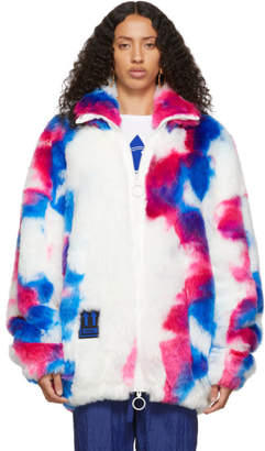 Off-White White Faux-Fur Zip Anorak Jacket