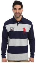 U.S. Polo Assn. Long Sleeve Stripe and Solid Heavy Weight Jersey Rugby Shirt
