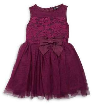 Zunie Little Girl's Sleeveless Embroidered Mesh Fit-&-Flare Dress