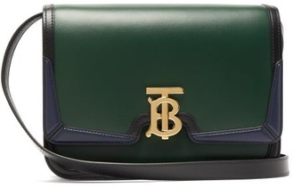 Burberry Tb Monogram Leather Cross-body Bag - Womens - Green Multi