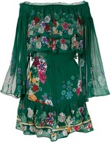 Camilla Emeralds Orbit Tiered Ruffle dress