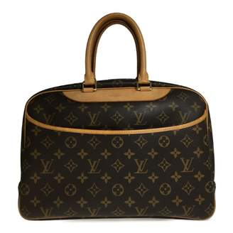 Louis Vuitton Deauville Brown Cloth Travel bags