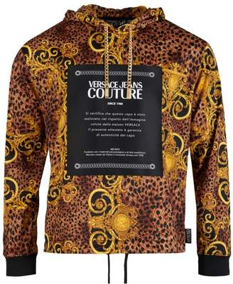 Versace Couture Baroque Print Patch Hooded Sweat Colour: