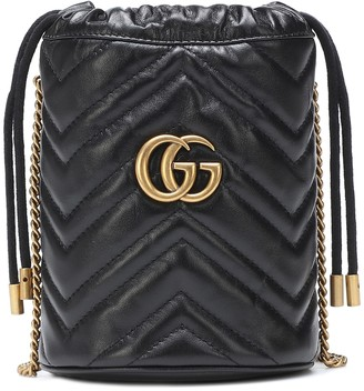 Gucci GG Marmont Mini leather bucket bag