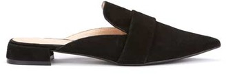 Mint Velvet Becky Black Backless Loafers