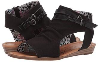 Blowfish Blumoon (Black Rancher Canvas) Women's Sandals