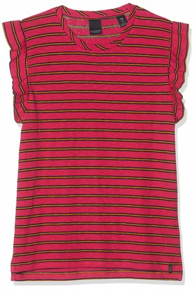 Scotch & Soda RBelle Girl's Striped Tee with Ruffle Sleeve T-Shirt