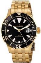 Peugeot Men's 1028GBK Analog Display Japanese Quartz Gold Watch