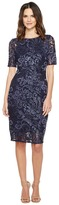 Adrianna Papell Stretch Sequin Raglan Sheath Dress Women's Dress