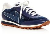 Marc Jacobs Astor Lightning Bolt Velvet Lace Up Sneakers