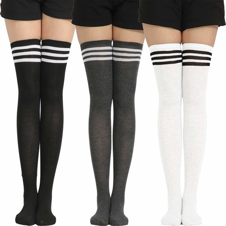 Molton Marley 3 Pack Knee High Socks Girls and Womens Cotton Fine Bow Made in Europe