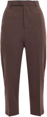 Rick Owens Astaire Cropped Wool Tapered Pants