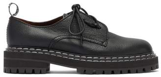 Proenza Schouler Raised Sole Grained Leather Derby Shoes - Womens - Black