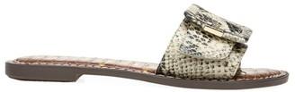 Sam Edelman Granada Flat Snakeskin-Embossed Sandals