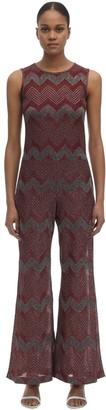 M Missoni Zig Zag Lurex Knit Jumpsuit