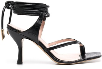 Gia Couture Tie-Fastening Ankle Strap Sandals