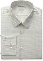 Calvin Klein Men's Stretch Xtreme Slim Fit Dot Print Point Collar Dress Shirt