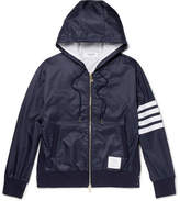 Thom Browne Striped Ripstop Hooded Jacket - Navy