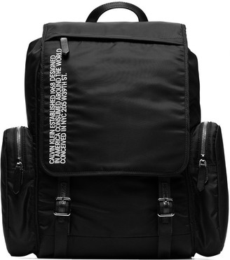 Calvin Klein black branded backpack