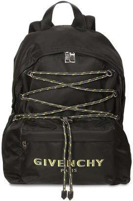 Givenchy Logo Print Nylon Back Pack