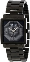 Versus By Versace Women's AL12SBQ509A110 Dazzle Ion-Plated Stainless Steel Square Watch