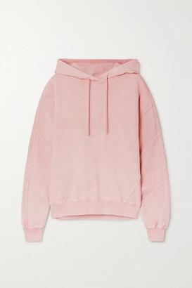 Ninety Percent + Net Sustain Paneled Organic Cotton-jersey Hoodie - Pink