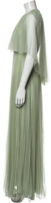 Maria Lucia Hohan Crew Neck Long Dress Green