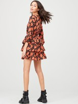 Very Printed Tiered Skater Dress - Floral
