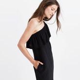 Madewell Silk One-Shoulder Dress