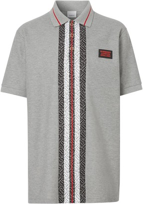 Burberry Monogram Stripe print polo shirt